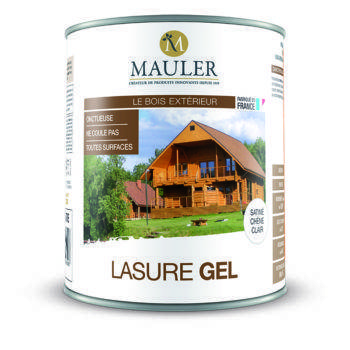 Lasure gel anti-coulures pour bois extérieur Mauler