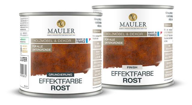 Effektfarbe Rost - Grund+Finish - 0,5L Mauler