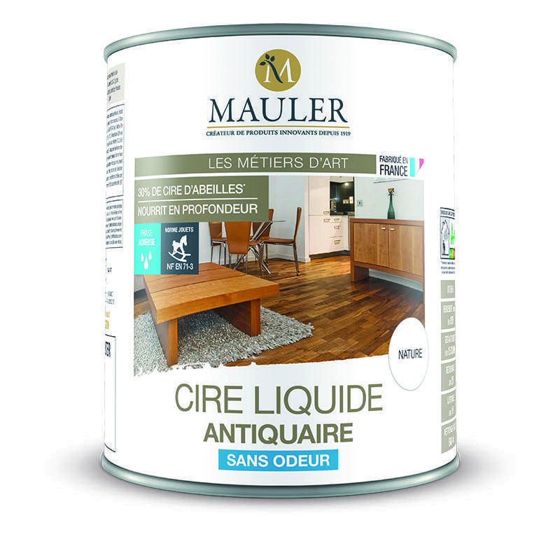 cire d 39 antiquaire liquide sans odeur pour meuble et parquet mauler. Black Bedroom Furniture Sets. Home Design Ideas