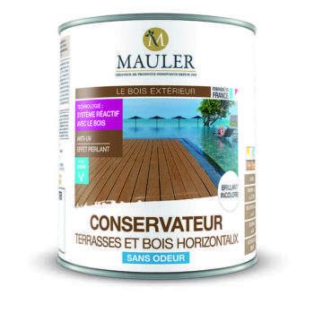 conservateur terrasse en bois et bois horizontaux Mauler