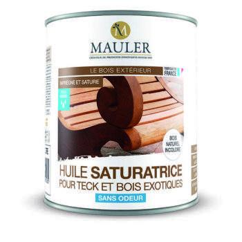 Huile saturatrice pour teck et bois exotiques sans odeur Mauler