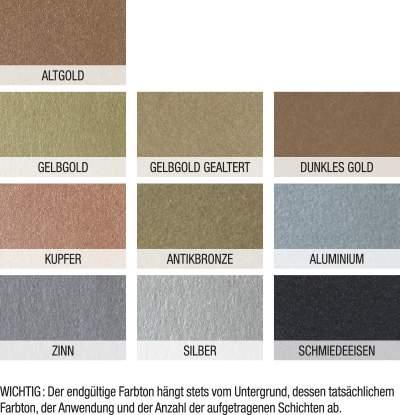 nuance effektfarbe metall mauler