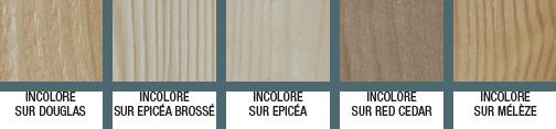 Nuancier barrière protection anti-uv pour bois extérieur