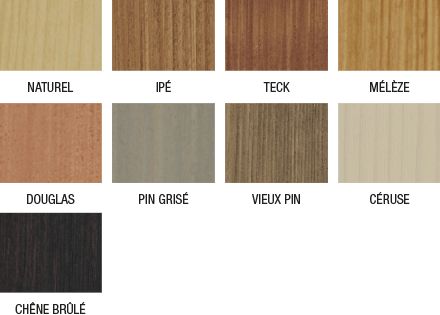 Nuancier saturateur bois extérieurs huiles et résines naturelles