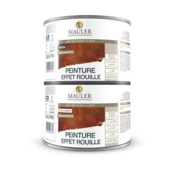 Peinture effet rouille multi support mauler fer bois - Video peinture a effet ...