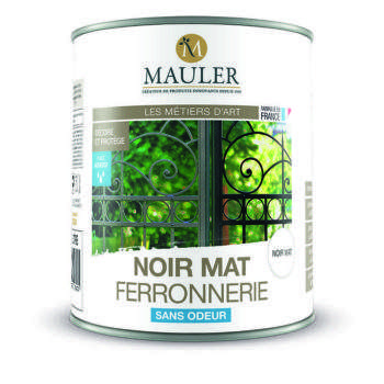 Peinture noir mat ferronerie sans odeur Mauler