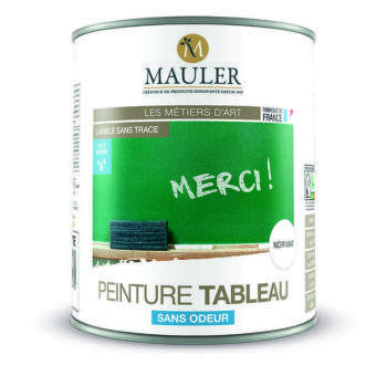 Peinture tableau noir ou vert mat sans odeur Mauler