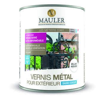 Vernis pour métal extérieur action antirouille sans odeur Mauler
