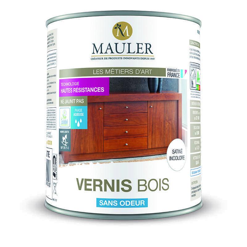 Vernis pour bois int rieur et ext rieur sans odeur mauler for Lasure ou vernis bois exterieur