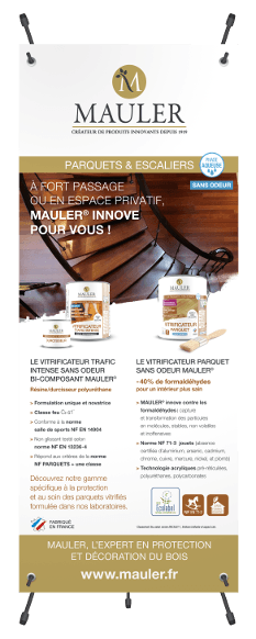 Roll-up vitrificateur, parquet et escalier