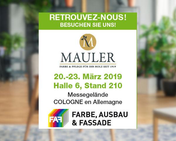 Mauler au salon FAF Cologne 2019